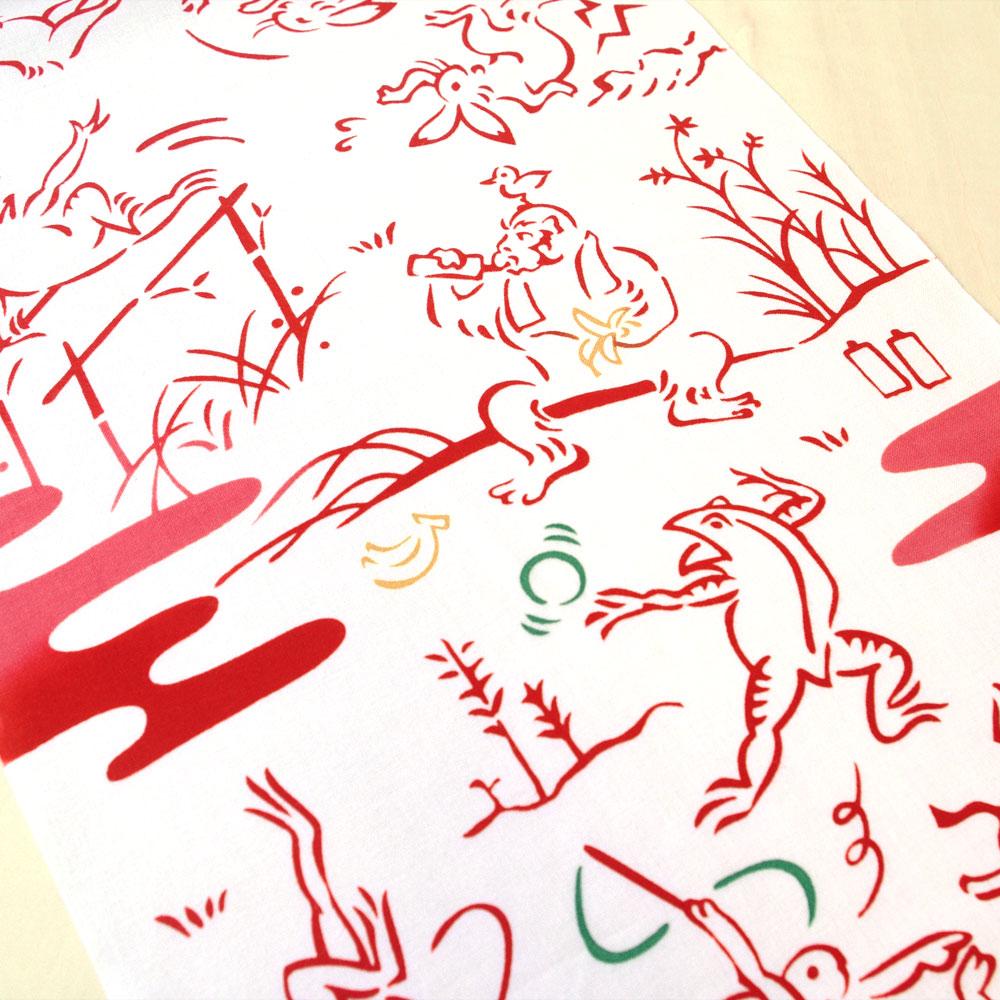 kenema 注染手ぬぐい 鳥獣戯画-体操